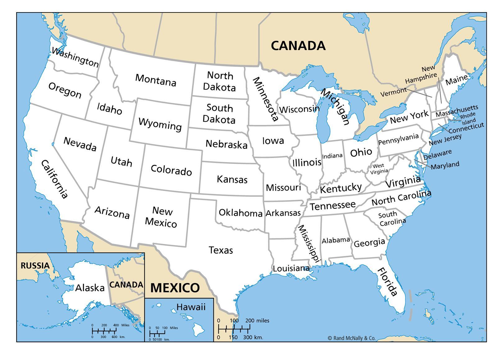 Mapa Usa Se Staty Mapa Spojenych Statu Se Staty Severni Ameriky