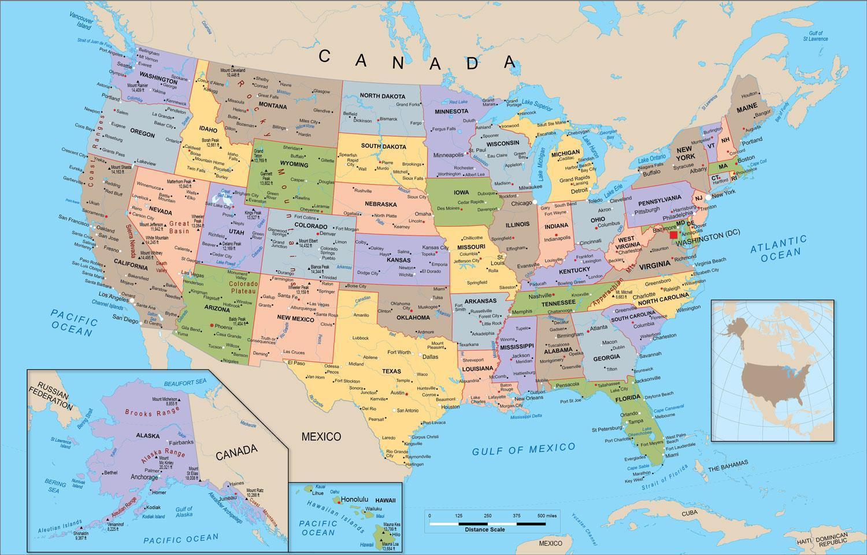 Obraz Mapa Usa Obrazek Mapa Spojenych Statu Severni Ameriky